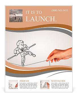 Dibujo a lápiz como illustraion de los riesgos y desafíos InBusiness Flyer