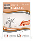 Pencil drawing as illustraion of risks and challenges inbusiness Flyer Template