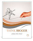 Pencil drawing as illustraion of risks and challenges inbusiness Poster Template