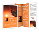Ant on top of rock, mountain peak, height concept Brochure Templates