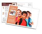 Kids ready back to school Postcard Template