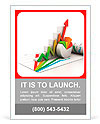 3d business growth graph Ad Template