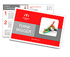 3d business growth graph Postcard Template