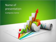 3d business growth graph PowerPoint Templates