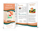 "Big flax eco bag ""I love eco"" Brochure Template"