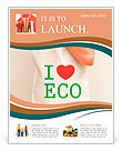 "Big flax eco bag ""I love eco"" Flyer Template"