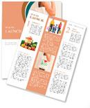 "Big flax eco bag ""I love eco"" Newsletter Templates"