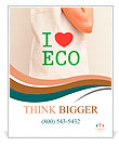 "Big flax eco bag ""I love eco"" Poster Template"