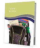 Schoolbag with supplies for education Presentation Folder