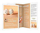 Two eggs with drawn smiley faces Brochure Templates