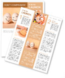 Two eggs with drawn smiley faces Newsletter Template
