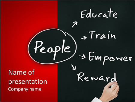 Personnel Manager Hand Writing Human Resource Management Concept For