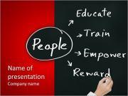 Escrita a mão gerente Pessoal conceito de gestão de recursos humanos para o desenvolvimento de habilidade, capacidade, pote Modelos de apresentações PowerPoint