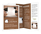 Photo studio equipment. Space for text. 3d Brochure Template
