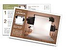 Photo studio equipment. Space for text. 3d Postcard Template