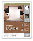 Photo studio equipment. Space for text. 3d Poster Template