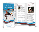 High jump in track and field Brochure Templates