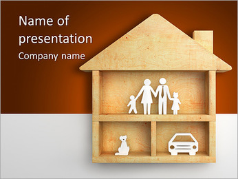 Wooden Toy House Plantillas de Presentaciones PowerPoint