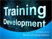 Образование и узнать концепция: неровной слова Развитие Обучение на цифровом экране, 3D визуализации Шаблоны презентаций PowerPoint