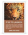 Leopard portrait Ad Template
