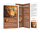 Leopard portrait Brochure Template