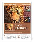 Leopard portrait Flyer Templates