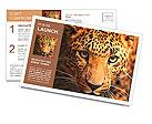 Leopard portrait Postcard Template