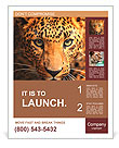 Leopard portrait Poster Template