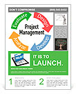 Project Management business product development arrows cycle Flyer Templates