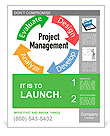 Project Management business product development arrows cycle Poster Template