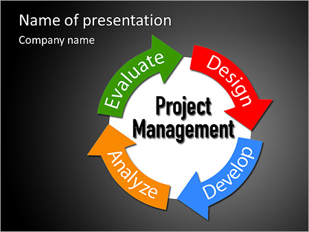 project management business product development arrows cycle, Powerpoint templates
