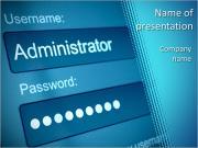 Войти Box - Имя пользователя и пароль в интернет-браузера на экране компьютера Шаблоны презентаций PowerPoint