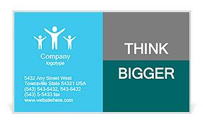 New technology cloud compute concept Business Card Templates