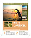 Throwing fishing net during sunrise, Thailand Flyer Template