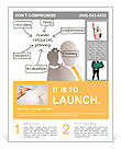 Enterprise HR manager drawing a company human resources business plan Flyer Templates