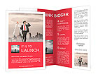 Businessman looking for new business Brochure Templates