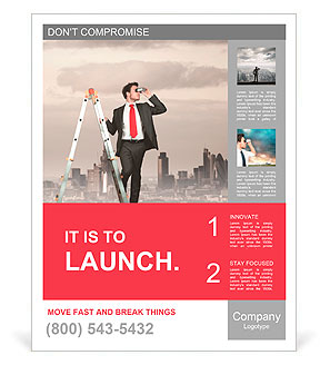 Businessman looking for new business poster template design id businessman looking for new business poster template wajeb