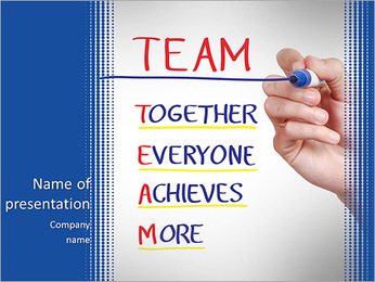 Together Everyone Achieves More PowerPoint Template