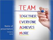Together Everyone Achieves More PowerPoint Templates