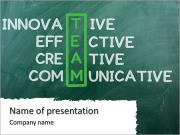 Chalk drawing - TEAM: innovative ,effective,creative ,communocative PowerPoint Templates