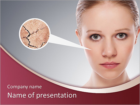 Skin powerpoint template smiletemplates skin problem powerpoint templates download concept of cosmetic effects treatment and skin care face of young woman with dry toneelgroepblik Gallery