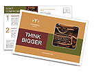 Old rusty typewriter Postcard Templates