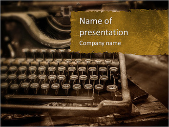 Old rusty typewriter PowerPoint Template