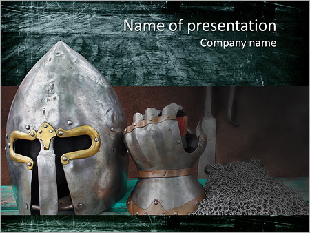Armour of the medieval knight metal protection of the soldier armour of the medieval knight metal protection of the soldier against the weapon of the opponent powerpoint template toneelgroepblik Choice Image