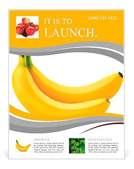 Два бананы на белом фоне Флайеры