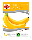 Two bananas isolated on white background Flyer Template
