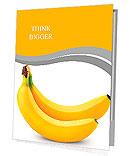 Two bananas isolated on white background Presentation Folder