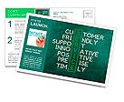 Customer service concept on blackboard-customer friendly support Postcard Template
