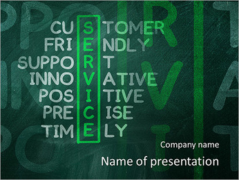 Customer service concept on blackboard-customer friendly support PowerPoint Template