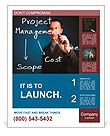 Business man writing project management concept of time, cost and scope Poster Template